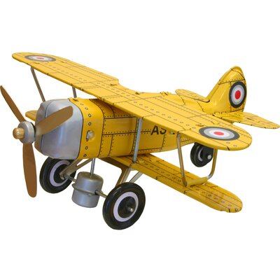Collectible Tin Toy Model Curtis Biplane