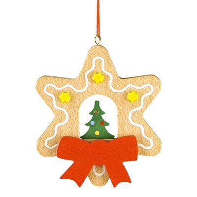 Alexander Christian Ulbricht Star Shaped Gingerbread Cookie Ornament with Christmas Tree at Sears.com