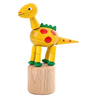 Dregeno Dinosaur Push Toy Statue Color: Yellow