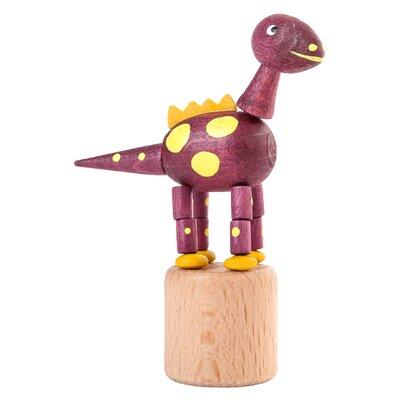 Dregeno Dinosaur Push Toy Statue Color: Purple