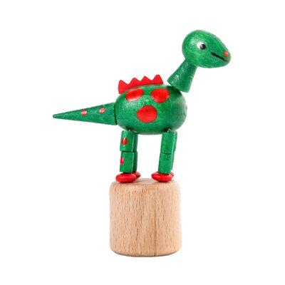 Dregeno Dinosaur Push Toy Statue Color: Green
