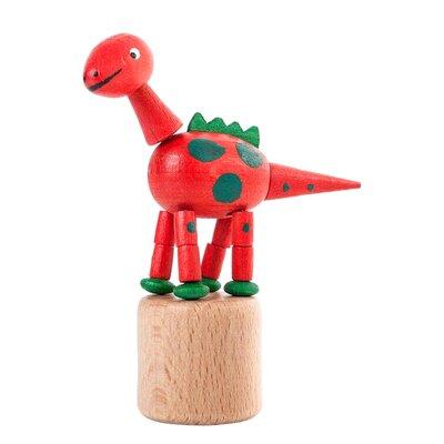 Dregeno Dinosaur Push Toy Statue Color: Red