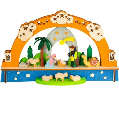 Graupner Christmas Arch with Nativity Scene and LED Lighting Ornament