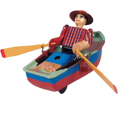 Collectible Decorative Tin Toy Rowboat MS385