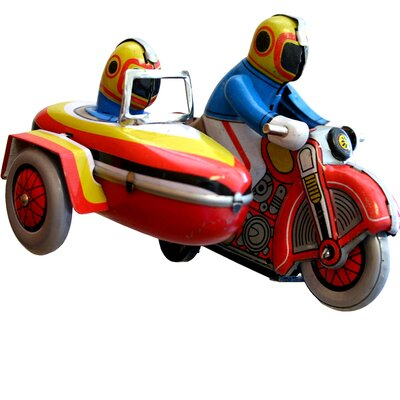 Collectible Tin Toy Motor Cycle with Sidecar MS281