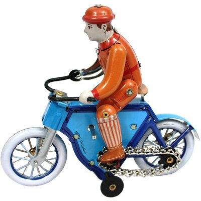 Collectible Decorative Tin Toy Bicycle Rider MS433