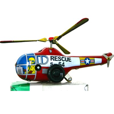 Collectible Decorative Tin Toy Helicopter MS653