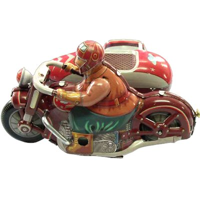 Collectible Tin Toy Motor Cycle With Sidecard