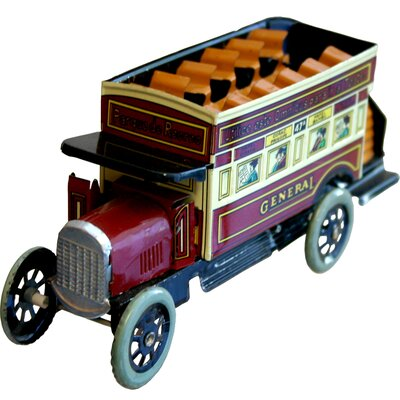 Collectible Tin Toy Bus MS817