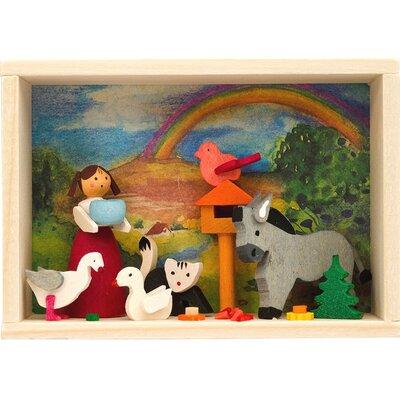 Graupner Farm Girl feeding Animals Matchbox 526