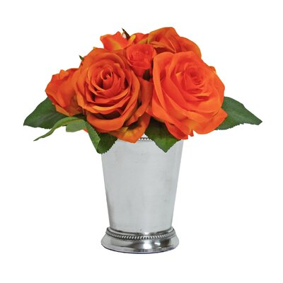 Rose Bouquet in Mint Julep Cup F0063