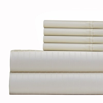 Cena 6 Piece 700 Thread Count Sheet Set Size: King, Color: Ivory