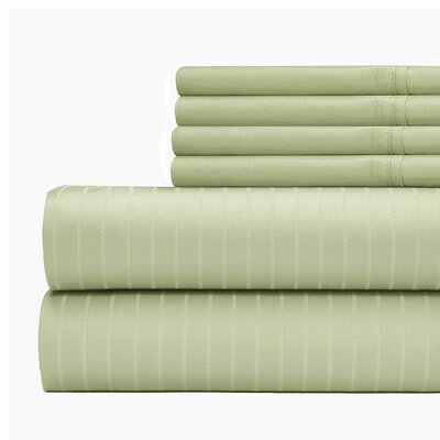 Cena 6 Piece 700 Thread Count Sheet Set Size: King, Color: Sage