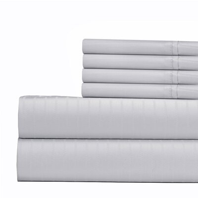 Cena 6 Piece 700 Thread Count Sheet Set Size: Full, Color: White