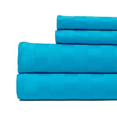 4 Piece 500 Thread Count Egyptian Quality Cotton Sheet Set Size: Full, Color: Aqua Blue