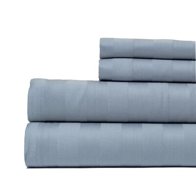 4 Piece 500 Thread Count Egyptian Quality Cotton Sheet Set Color: Gray, Size: California King