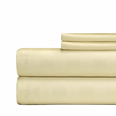 4 Piece 500 Thread Count Egyptian Quality Cotton Sheet Set Color: Ivory, Size: California King