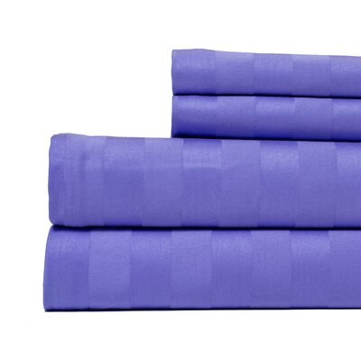4 Piece 500 Thread Count Egyptian Quality Cotton Sheet Set Size: Queen, Color: Lavender
