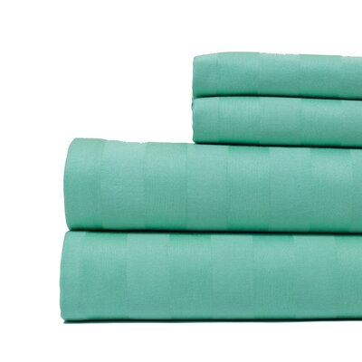 4 Piece 500 Thread Count Egyptian Quality Cotton Sheet Set Color: Mint Green, Size: King