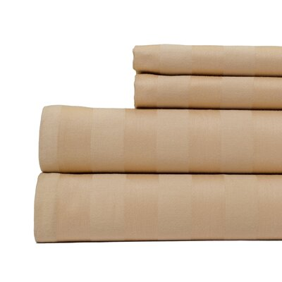 4 Piece 500 Thread Count Egyptian Quality Cotton Sheet Set Size: Queen, Color: Tan
