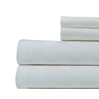 4 Piece 500 Thread Count Egyptian Quality Cotton Sheet Set Size: California King, Color: White