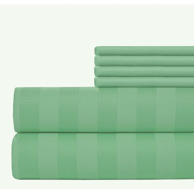6 Piece 500 Thread Count Egyptian Quality Cotton Sheet Set Size: California King, Color: Sage