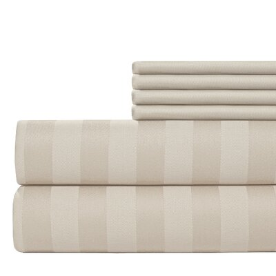 6 Piece 500 Thread Count Egyptian Quality Cotton Sheet Set Size: Queen, Color: Pebble