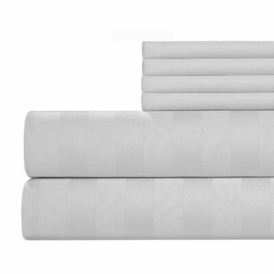 6 Piece 500 Thread Count Egyptian Quality Cotton Sheet Set Size: Full, Color: White