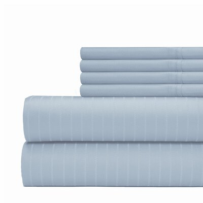 Cena 6 Piece 700 Thread Count Sheet Set Size: King, Color: Blue