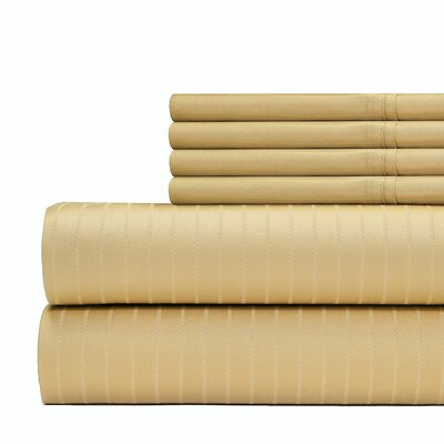 Cena 6 Piece 700 Thread Count Sheet Set Size: California King, Color: Gold