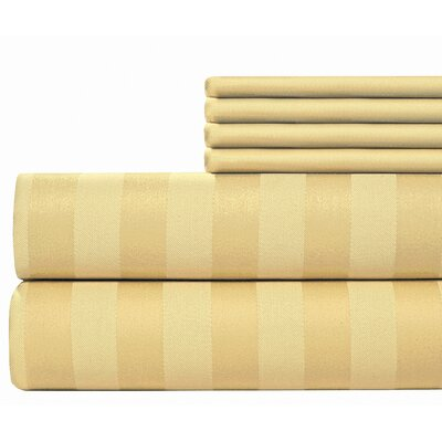 6 Piece 500 Thread Count Egyptian Quality Cotton Sheet Set Size: Full, Color: Butter
