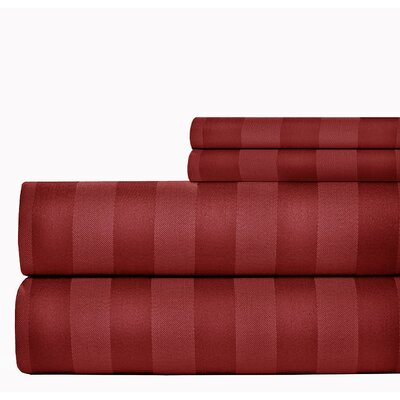 500 Thread Count Sheet Set Size: King, Color: Ruby