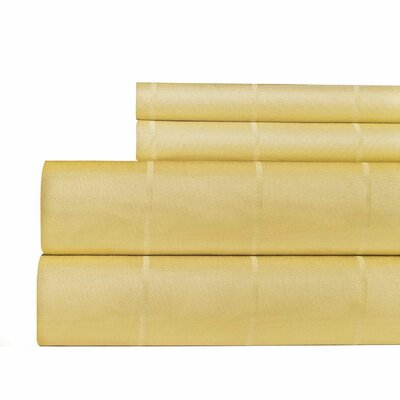 620 Thread Count Egyptian Quality Cotton Sheet Set Color: Gold, Size: King