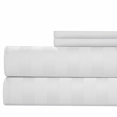 600 Thread Count Cotton Sheet Set Size: King, Color: White