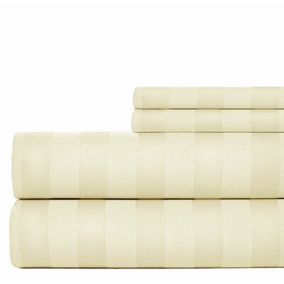 600 Thread Count Cotton Sheet Set Size: King, Color: Ivory