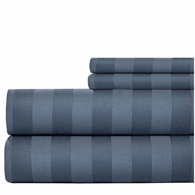 600 Thread Count Cotton Sheet Set Size: Queen, Color: Navy Blue