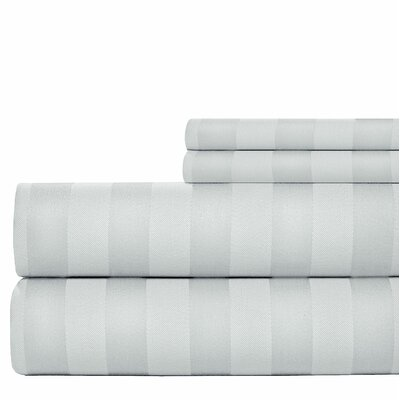 600 Thread Count Cotton Sheet Set Size: Queen, Color: Grey
