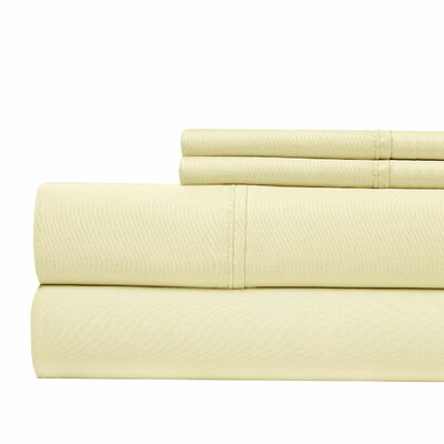 800 Thread Count Sheet Set Color: Ivory, Size: Queen