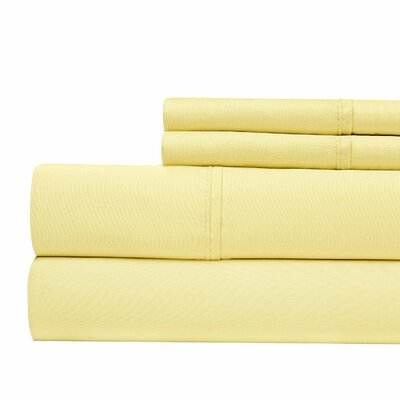 800 Thread Count Sheet Set Color: Butter, Size: Queen