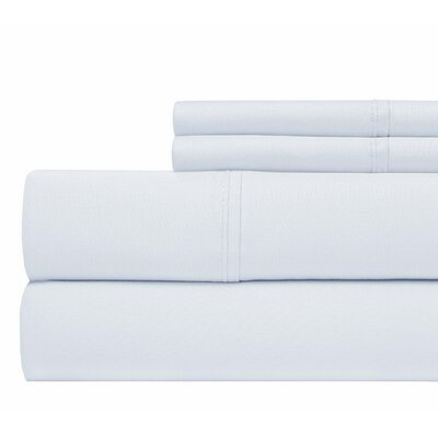 800 Thread Count 100% Cotton Sheet Set Color: Blue, Size: Queen