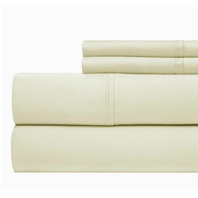 800 Thread Count 100% Cotton Sheet Set Color: Ivory, Size: Queen