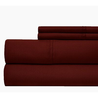 800 Thread Count 100% Cotton Sheet Set Color: Burguny, Size: King