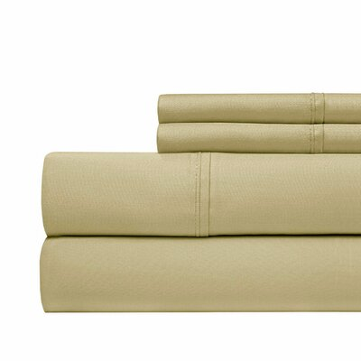 630 Thread Count Egyptian Quality Cotton Sheet Set Size: King, Color: Pebble