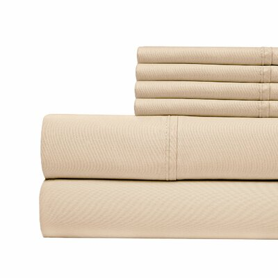 400 Thread Count Cotton Sateen Sheet Set Size: King, Color: Pebble