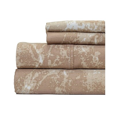 Marble Print 400 Thread Count 100% Cotton Sheet Set Size: Queen