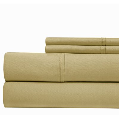 500 Thread Count Cotton Blend Sheet Set Size: Full, Color: Taupe