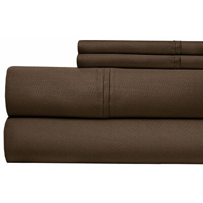 400 Thread Count 100% Pima Cotton Sheet Set Size: King, Color: Chocolate