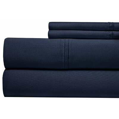 400 Thread Count 100% Pima Cotton Sheet Set Size: Queen, Color: Dark Blue