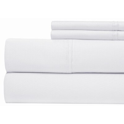 400 Thread Count 100% Pima Cotton Sheet Set Size: Queen, Color: White