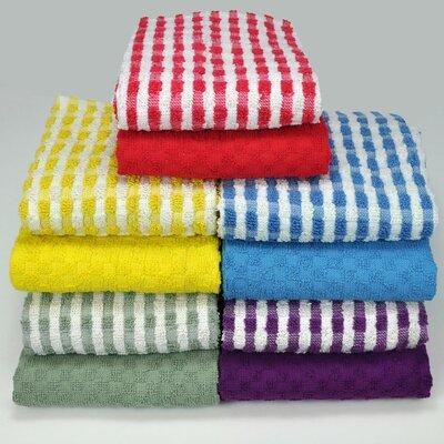 Cotton Terry 10 Piece Towel Set Color: Assorted